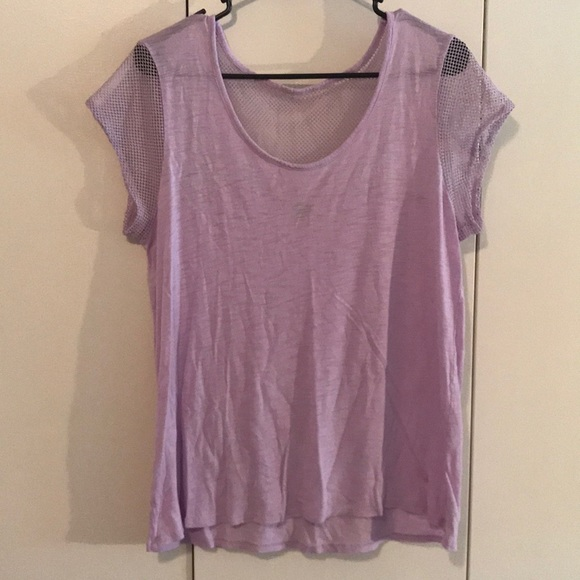 aerie Tops - Aerie lavender T-shirt with mesh sleeves